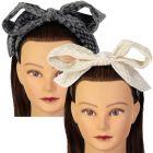 Dazzle Girls Checkered Velour Headband - 7036h