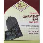 La Mart Childrens Black Garment Bag - 303
