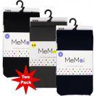 Memoi Girls Microfiber Winter Opaque Tights 2 Pack - MKB-112