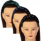 Riqki Girls Velour Rhinestone Turban Knot Headband - FH565