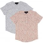 Samuel Jr Boys Short Sleeve Dress Shirt with No Collar - SA9CY552