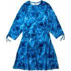 Abstract Girls Marine Swim Dress - 16SDBLU