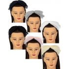 Dacee Girls Accordion Pleated Tulle Bow Headband - C1346