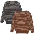 Klai Boys Staggered Stripe Sweater - G2034