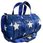 Top Trenz Navy with Star Puffer Duffle Bag - DUF-PUF2(STAR)