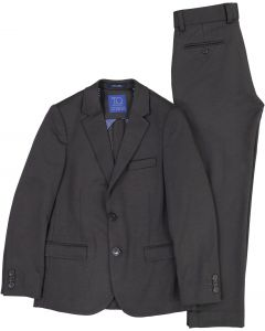 T.O. Collection Boys Charcoal Stretch Suit Separates (Slim/Skinny & Husky Fit) - 9131-3