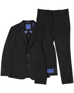 T.O. Collection Boys Black Stretch Suit Separates (Slim/Skinny Fit) - 9131-1