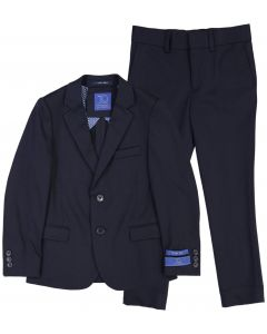 T.O. Collection Boys Navy Stretch Suit Separates (Slim/Skinny Fit) - 9131-2