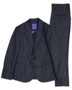 T.O. Collection Boys Navy Fancy Stretch Suit Separates (Slim/Skinny Fit) - 9131-6