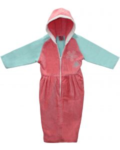 Abstract Girls Pink Terry Robe - 16BRPNK