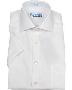 Adonis Boys 100% Cotton Non Iron White Short Sleeve Dress Shirt