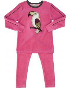 All Navy Girls Velour Parrot Pajamas - 83W202-G