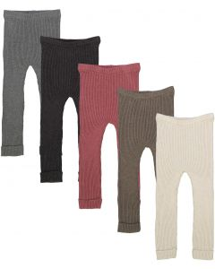Analogie by Lil Legs Boys Girls Unisex Winter Ribbed Knit Leggings