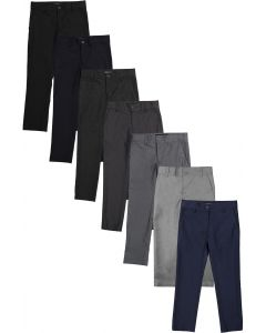 Armando Martillo Boys Flat Front Adjustable Waist Dress Pants (Skinny, Slim, & Husky Slim Fits)