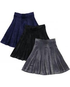 BGDK Girls Velvet Panel Skirt - BK-JH266