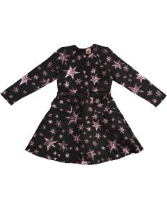 Clo Girls Pink Stars Dress - WA9CP4084