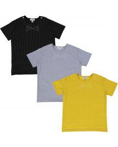 Crew Kids Boys Short Sleeve Dress Shirt with No Collar - AL1736