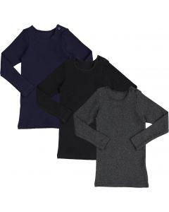Delore Baby/Toddler Boys/Girls Unisex Long Sleeve Diagonal Ribbed T-Shirt - DE-1606Q