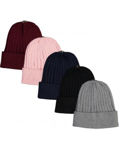 Delore Ribbed Knit Unisex Hat with Snap for Pompom - PM-19Z209