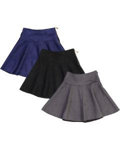 Dimo Girls Suede Panel Skirt - DS34