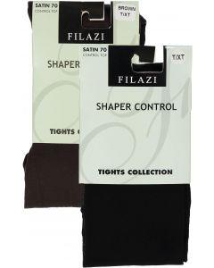 Filazi Womens Satin 70 Shaper Control Top Opaque Tights - 44