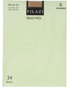 Filazi Womens Relax 34 Denier Control Top Firm Support Maternity Pantyhose - 5834