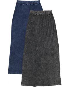 Kiki Riki Womens Ribbed Stonewash Long Straight Skirt - 41955