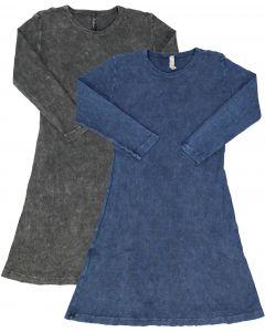Kiki Riki Girls Ribbed Stonewash A-line Dress - 55758