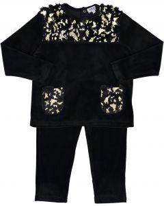 Kokao Boys Velour Pajamas with Fur Collar & Pockets - PN20PB
