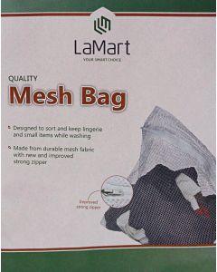 La Mart White Mesh Laundry Bag