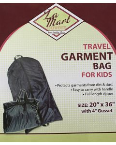 La Mart Childrens Black Garment Bag - 303