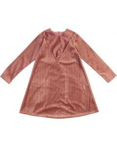 Little Cocoon Girls Ribbed Velour Dress - TD2088