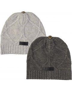 Maniere Girls Gold Lurex Knit Hat