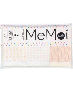 Memoi Girls Heart Briefs 3 Pack - MKU1004