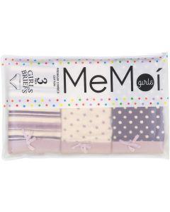 Memoi Girls Polka Dot Briefs 3 Pack - MKU1004
