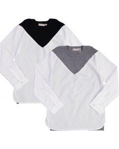 N° 18 Kids Boys  Long Sleeve Dress Shirt with No Collar - WA9CY1113