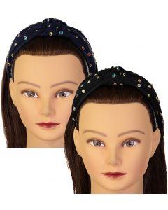 Riqki Girls Multi Color Rhinestone Turban Knot Headband - FH566