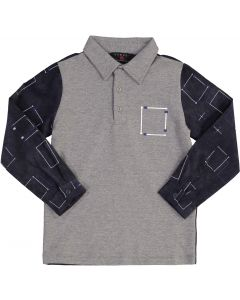 Samuel Jr Boys Corduroy Polo Shirt - Long Sleeve - WA9CY1007B
