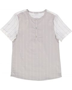 Slice Boys Short Sleeve Dress Shirt with No Collar - SA9CY526B