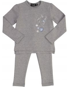 Space Gray Baby Boys Play Jacks Outfit - WA9CY1089BB