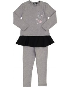 Space Gray Baby Girls Play Jacks Outfit - WA9CY1089BG