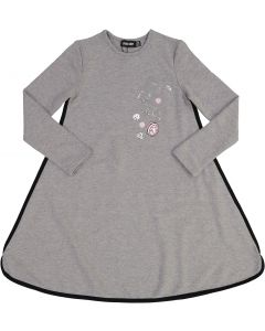 Space Gray Girls Play Jacks Bubble Dress - WA9CY1089