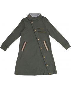 Teela Girls Diagonal Snap Dress - 9017