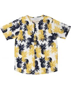 Teela Boys Short Sleeve Dress Shirt with No Collar - SB09A