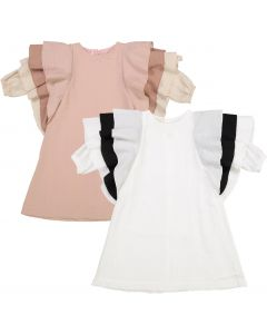 Teela Girls Ava Oversized Ruffle Sleeve Dress - SB10-05