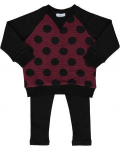 Whitlow & Hawkins Baby Boys Girls Unisex Baby Dot Outfit - WHF198002