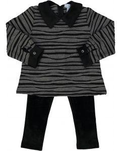 Whitlow & Hawkins Baby Girls Zebra Stripe Outfit - WHF198010