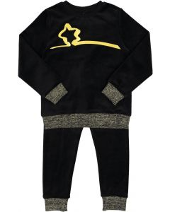 YSBS Boys Girls Unisex Metallic Star Velour Pajamas - 8716