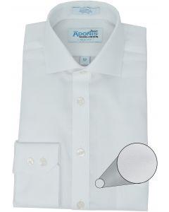 Adonis Boys 100% Cotton Non Iron Solid White Supima Twill Long Sleeve Dress Shirt