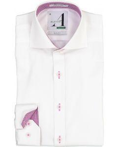 Alviso Boys Long Sleeve Dress Shirt with Contrast - 4435-BOBS